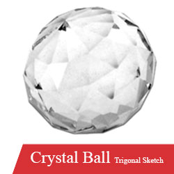 Crystal Ball Trigonal Sketched for Stairs Available at Mehboob Steel Traders